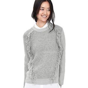 Banana Republic Fringe Front Sweater S